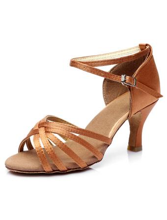 Ballroom Dance Shoes Latin Dance Shoes Satin Cirss Cross Ballroom Shoes For  Women c16ba0b18915