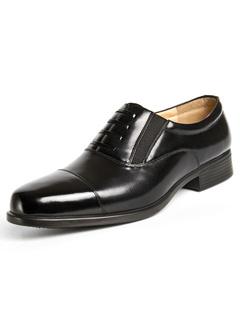 8a0d27a278 Negro puntas del dedo del pie zapatos de vestir de cuero para hombre