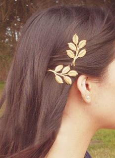Boho Leaf Headband Metallic Gold Women Hair Accessory