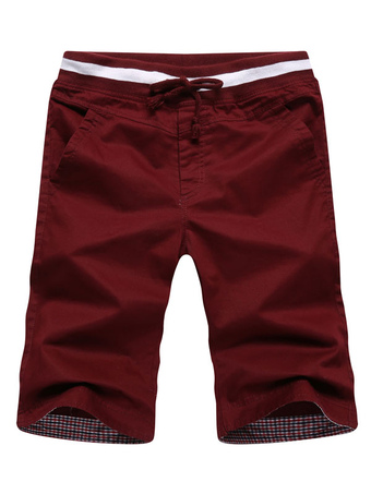 Casual Shaping Elastic Waist Pure Cotton Shorts For Man