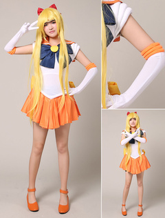Sailor Moon Sailor Venus Halloween Cosplay Costume Aino Minako Cosplay Wig Halloween  sc 1 st  Milanoo.com & Shop cheap Sailor Moon costumes 2018 | Milanoo.com