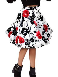 Skirts 2018 Floral Print Vintage Skirts