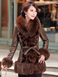 Cappotto di pelliccia del faux con tasche