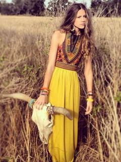 Sleeveless Chiffon Boho Maxi Dress