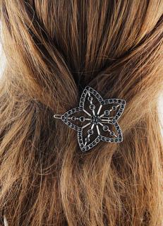 Flower Hair Clip Silver Rhinestone Metal Hair Accessories