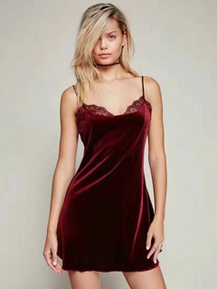 Purple Shift Dress Velvet Strappy Sleeveless Backless Short Dress For Women