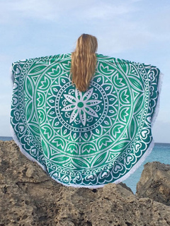 Bohemian Cover Ups Oversized Printed Round Beach Blanket