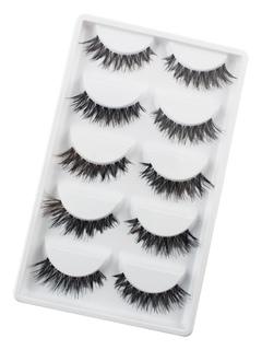 Black Synthetic False Eyelashes In 10 Pairs
