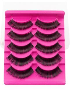 Black False Eyelashes Women's Microfiber Natural Eyelash Extension