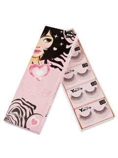 Quality False Eyelashes Synthetic 2 Layers Long Curly Natural Eyelashes In Separate Package