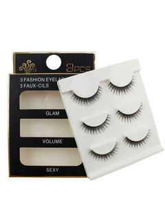 Black False Lashes High Quality Synthetic Eyelash Extensions For Women