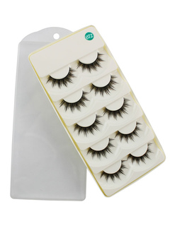 Black False Eye Lashes Microfiber Natural Eyelash Extension For Women