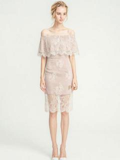 White Lace Dress Chiffon Off The Shoulder Short Sleeve Semi Sheer Layered Ruffled Short Dress