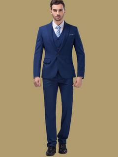 Sposa sposo vestiti Deep Blue Center sfiato tacca tuta Tuxedo di Laple In 3  pezzi 660a55c67c7