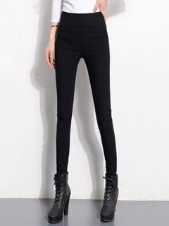 Black Skinny Pants Women's High Waist Slim Fit Tight Pants