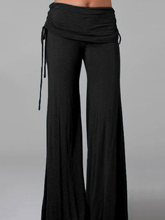 Women's Flare Pants Black High Waisted Culotte Pants
