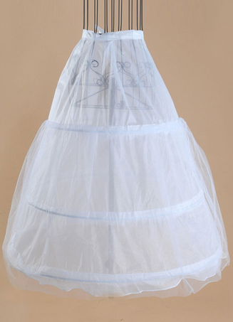 Tulle Wedding Petticoat Ivory A Line Layer 3 Hoop Bridal Petticoat