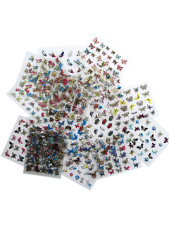 Transparent Nail Stickers Butterflies Shape Nail Decals