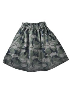 Camouflage Short Skirt Women's Elastic Waist Cotton Skirt