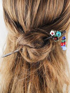 Charm Hair Stick Wood Black Pins Women's Hair Accessories