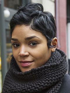 Short Black Wigs Curly Women's Layered Human Hair Wigs