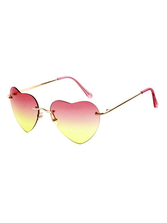 Women's Pink Sunglasses Heart Shape