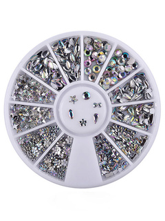 Silver Nail Accessory Glittering Snowflake Starlet Acrylic Nail Beauty Prop