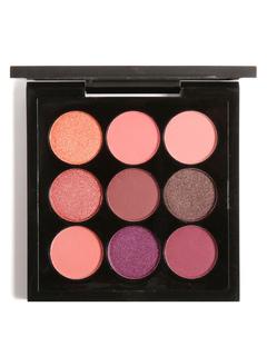 Pink Eyeshadow Palette Glittering Silky 9 Colors Eye Powder Compact