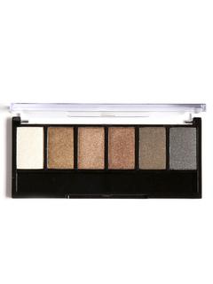 Eye Shadow Palette Earth Tone Smoky Long Lasting 6 Colors Eye Powder Compact