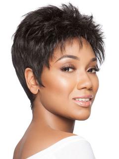 Human Hair Wigs Short Wavy Bouncy Black Women Short Hair Wig
