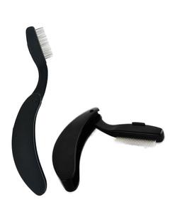 Folding Eyelash Comb Stainless Steel Teeth Eyebrow Brush Makeup Brush