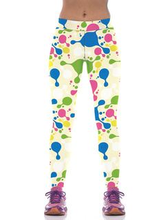 Apricot Yoga Pants Women's High Waist Printed Tight Sport Pants