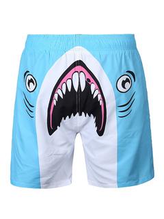 Board Swim Shorts Men's Blue Shark 3D Printed Beach Swim Trunks