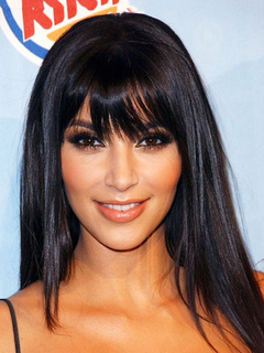 Long Black Wig Brownish Black Women's Straight Synthetic Hair Wigs With Bangs