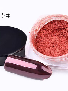 Nail Art Powder Solid Color Rose Gold Tone Women's Nail Beauty Tool