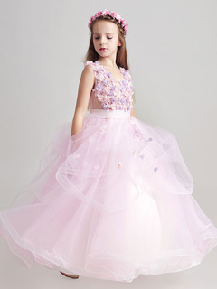 Flower girl dresses 2018 cheap flower girl dresses toddler flower princess flower girl dresses organza applique soft pink sash floor length kids pageant dresses mightylinksfo