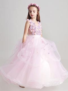 Flower girl dresses 2018 cheap flower girl dresses toddler flower princess flower girl dresses organza applique soft pink sash floor length kids pageant dresses mightylinksfo