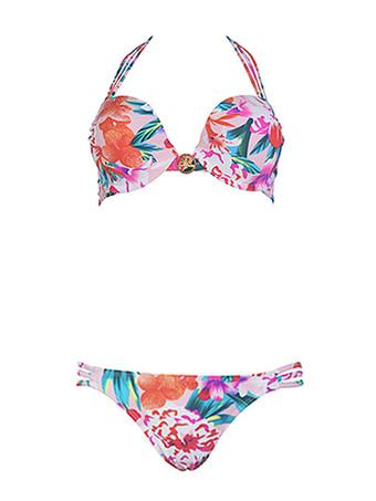 0ef93f713bae9 Sexy Bikini Swimsuit Push Up Beach Swimwear Halter Leopard Printed 2 Piece  Bathing Suit