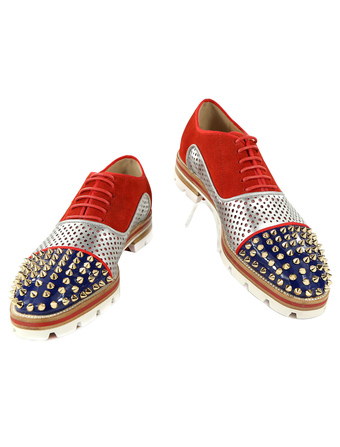 9b870da9a06 Red Dress Shoes Leather Men Round Toe Rivets Beaded Lace Up Oxford Shoes
