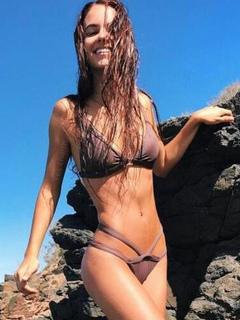 Cameo Pink Bikini Sleeveless Strappy Spaghetti Straps Two Piece Swimsuit For Women