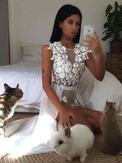 White Bodysuit Dress Round Neck Sleeveless Lace Flowers Tulle Semi Sheer Long Bodysuit Dress For Women