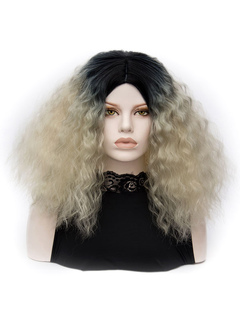 Carnival Hair Wigs Blond Crimp Curls Women's Layered Long Holiday Wigs