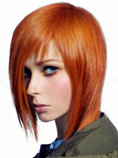 Human Hair Wigs Boycus Ombre Women's Layered Straight Ginger Red Wigs