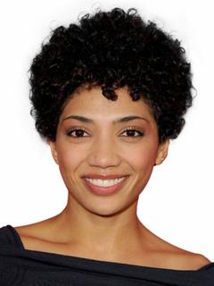 African American Wigs Women's Corkscrew Curls Tousled Black Human Hair Wigs