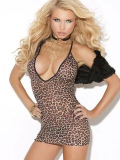 Leopard Club Dress Straps Sleeveless Women's Sexy Bodycon Dresses