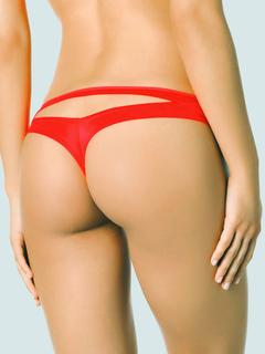 Red T Back Women's Cut Out Sexy Swimwear