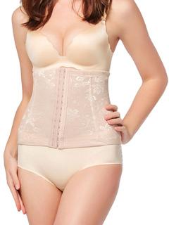 Waist Body Shaper Nude Sleeveless Underbust Tummy Slimming Jacquard Girdle For Women