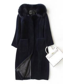 de chaquetas cuero piel y Comprar la abrigos y de chalecos de mujer 56qXwxdx0T