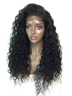 Black Lace Wigs Tousled Long Curly Afro American Wigs