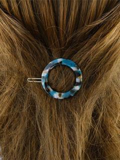 Light Blue Hairpin Women's Chic Round Stone Grain Headpieces